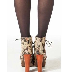 Jeffrey Campbell Shoes - Jeffrey Campbell Dog Tapestry Lita Boot